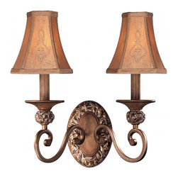 Minka-Lavery - Minka-Lavery Salon Grand 2-Light Wall Sconce - 1562-477 - This 2-Light Wall Light has a Bronze finish and is part of the Salon Grand collection.