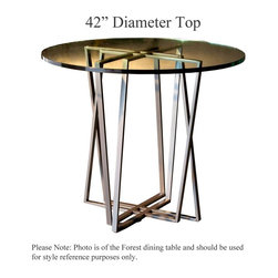 Forrest Counter Height Table with 42in. Diameter Top by Charleston Forge - Dimensions: (diameter x height)