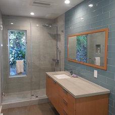 Modern Bathroom by H&S Cabinets and Construction inc.