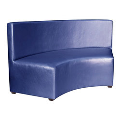 Howard Elliott - Shimmer Sapphire Universal Radius InCurve - Create sleek, modern seating arrangements for bars, lobbies or restaurants with our Radius In-Curve Banquette. It features a dramatic arced shape. Place 2 or more together for a dramatic seating display. Take your seating arrangement a step further by pairing it up with the coordinating bench and round ottoman!