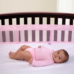 NoJo Pink Solid Mesh Crib Liner - Your pretty-in-pink baby girl will sleep well inside the protection of the NoJo Pink Solid Mesh Crib Liner. This pink-colored liner is made of a cotton/polyester blend and will go well with nearly any nursery decor.About NoJoOffering fashionable, safe, and reliable products throughout the United States for the past 40 years, NoJo's goal is to offer fashion-forward infant and toddler bedding, blankets, and accessories that meet the demands of today's modern lifestyle. NoJo puts not only style into their products, but comfort and safety, too.