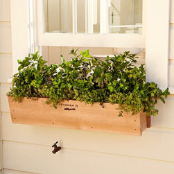 Cedar Window Box - If you live in an apartment, I recommend a window box to start your own personal garden. You can grow almost everything in it.