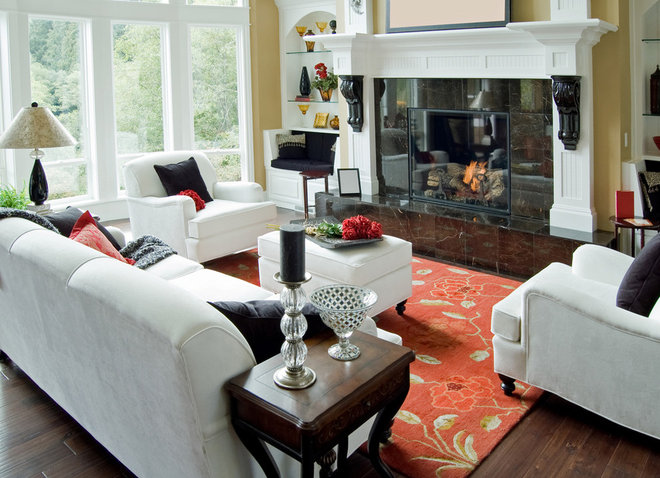 Traditional Living Room by Marcia Nease with Baer's Furniture