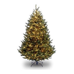 7.5 ft. Natural Fraser Medium Fir Hinged Pre-Lit Christmas Tree - Clear