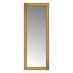 """Posters 2 Prints, LLC - 29"""" x 73"""" Arqadia Gold Traditional Custom Framed Mirror - 29"""" x 73"""" Custom Framed Mirror made by Posters 2 Prints. Standard glass with unrivaled selection of crafted mirror frames.  Protected with category II safety backing to keep glass fragments together should the mirror be accidentally broken.  Safe arrival guaranteed.  Made in the United States of America"""