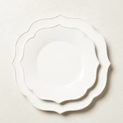 Lotus Dinnerware - I've always enjoyed the curves of this baroque dinnerware. Its understated style will mix in easily as you introduce new patterns.