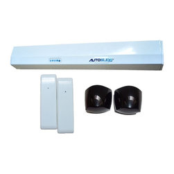 Autoslide - Autoslide Automatic Pet Door Kit, White - The Autoslide Infrared Pet Door Kit is perfect for pet lovers. This bundle is designed for both pets and pet owners to enjoy hands free access to the outside of your home. With the two Infrared Pet Motion sensors, you will be able to turn your existing sliding glass doors into true automatic pet doors.