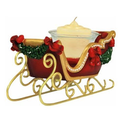 WL - 3.5 Inch Red Mistletoe Sleigh Collectible Xmas Votive Candle Holder - This gorgeous 3.5 Inch Red Mistletoe Sleigh Collectible Xmas Votive Candle Holder has the finest details and highest quality you will find anywhere! 3.5 Inch Red Mistletoe Sleigh Collectible Xmas Votive Candle Holder is truly remarkable.