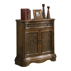 Monarch Specialties - Monarch Specialties 3866 Bombay Chest in Brown - Create a timeless style in your home with this traditional serpentine shaped Bombay chest. Dark brown and warm cherry veneers establish an elegant statement for any room in your home.