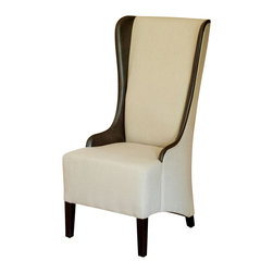 Great Deal Furniture - Bogart Beige Tall Dining Chair - Add the Bogart Beige Tall Dining Chair to your dining room if you're looking for the perfectly dramatic table scape or for additional seating in any room. Built from a strong hardwood frame, covered with soft linen fabric, and well-padded seat for extreme comfort, make the Bogart a signature piece in any room.