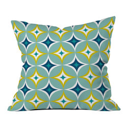 DENY Designs - Heather Dutton Astral Slingshot Outdoor Throw Pillow - Do you hear that noise? it's your outdoor area begging for a facelift and what better way to turn up the chic than with our outdoor throw pillow collection? Made from water and mildew proof woven polyester, our indoor/outdoor throw pillow is the perfect way to add some vibrance and character to your boring outdoor furniture while giving the rain a run for its money. Custom printed in the USA for every order.