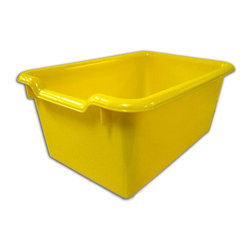 Ecr4kids - Ecr4Kids Scoop Front Storage Bins Yellow Pack Of 10 - A SET OF 10, scoop-front, polypropylene tote bins designed for use with ECR storage cabinets.Heavy-duty, scoop-front, polypropylene tote bins with rounded edges for safety. Fits all ECR storage units and most standard cubbie units that are 12D or more. Available in Red, Blue, Yellow, White, Clear and Green.