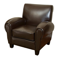 Cleveland Brown Leather Cigar Club Chair