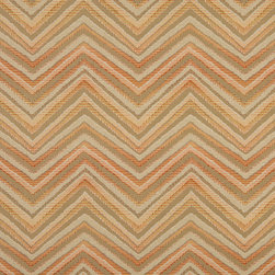 Orange Taupe And Beige Chevron Indoor Outdoor Upholstery Fabric By The Yard - P501010 is great for residential and commercial applications, and can be used outdoors and indoors. This fabric will exceed at least 35,000 double rubs (15,000 is considered heavy duty), and is easy to clean and maintain. In addition, this product is stain, water, mildew, bacteria and fade resistant. For superior quality and performance, this fabric is woven and solution dyed.
