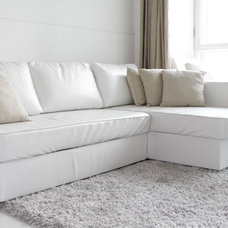Modern Sofas by Comfort Works Custom Slipcovers