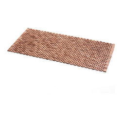 WS Bath Collections - Tapie Shower Mat - Tapie 7215 by WS Bath Collections Shower Mat in Teak Wood Black, Water Resistant For Use Inside or Outside of Shower, Made in Italy