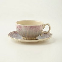 "Anthropologie - Smoke Rings Cup & Saucer - StonewareDishwasher and microwave safe8 oz2.25""H, 6.5"" diameterPortugal"