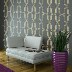 Wall Decals - Wall Decals Geometric Wall Pattern Abstract Hollywood Regency Decor Shapes