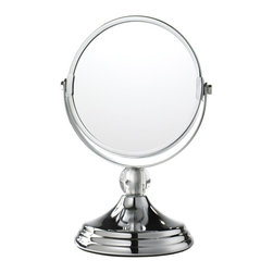Home Decorators Collection - Mini Glamour Makeup Mirror - Our sophisticated Mini Glamour Makeup Mirror boasts a chrome construction with a clear acrylic ball finial. Go on and apply your cosmetics in confidence! Wipe clean. Clear crystal finial adds interest to the mirror.