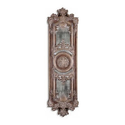 Uttermost - Uttermost 13529 P  Domenica Antique Mirror - This decorative wall decor features heavily antiqued mirrors accented by ornate framing finished in lightly distressed chestnut brown with a heavy gray glaze. may be hung horizontal or vertical.