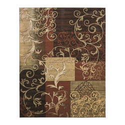Safavieh - Safavieh Timeless Fashion Rug with Rust / Multi X-8-1973-0562AFT - The Timeless Fashion collection uses classic motifs with modern colors that creates a warm, inviting rug.