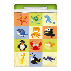 """Eco Friendly Twin Size """"Beach Animals"""" Kids Sheet Set - Twin Size """"Beach Animals"""" Kids Sheet Set from our Seaside Bed and Bath Collection is made of a lightweight microfiber for the ultimate experience in softness~ extremely breathable!"""