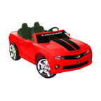 NPL - NPL Chevrolet Camaro Battery Powered Riding Toy Multicolor - NPL-0811 - Shop for Tricycles and Riding Toys from Hayneedle.com! Kids can cruise the block in style with the NPL Chevrolet Camaro 12 Volt Car Riding Toy - Red. This officially licensed kid's battery-operated version of the Chevrolet Camaro is sure to make your kids smile. The 12-volt battery propels two passengers at a cruising speed of up to 5 mph when the gas pedal is pressed while releasing the pedal brings the car to a smooth stop. The car's interior keeps young drivers entertained with electronic sound buttons that play different authentic effects. The vehicle has a FM radio and a MP3 outlet for the young rider to play music from any MP3 and/or iPod. The vehicle runs for up to 1 hour on a full charge. Weighs 66 pounds. Dimensions: 59L x 31W x 23H inches. About Big Toys USABig Toys USA is an exclusive U.S. distributor for high-quality ride-on toys from Spain Germany China and Italy along with a complete line of American-made rideable toys. Big Toys represents Fisher Price Power Wheels Big Injusa Kid Trax Mini Motos Feber NPL Evo Powerboards and Toys Toys. Big Toys focuses on quality safety value and most of all Big Fun.