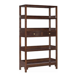 EuroLux Home - New Solid Wood Gardena Bookcase Ebonized - Product Details
