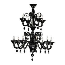 Cyan Design - Cyan Design Twelve Lamp Chandelier in Grey - Twelve Lamp Chandelier in Grey