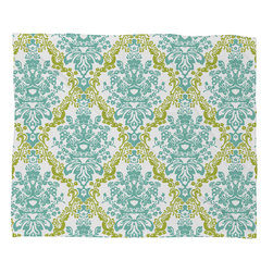 DENY Designs - Rebekah Ginda Design Lovely Damask Fleece Throw Blanket - This DENY fleece throw blanket may be the softest blanket ever! And we're not being overly dramatic here. In addition to being incredibly snuggly with it's plush fleece material, it's maching washable with no image fading. Plus, it comes in three different sizes: 80x60 (big enough for two), 60x50 (the fan favorite) and the 40x30. With all of these great features, we've found the perfect fleece blanket and an original gift! Full color front with white back. Custom printed in the USA for every order.