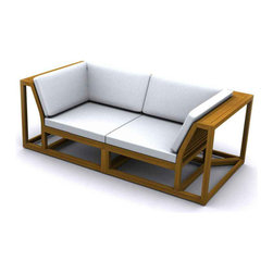 Westminster Teak Furniture - Maya Teak Couch - Another signature design from Westminster, the streamlined modular S sofa conversation set consists of 6 select pieces from our  Maya Collection.
