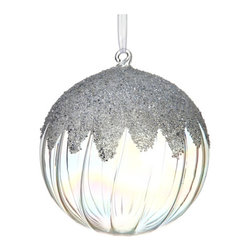 Silk Plants Direct - Silk Plants Direct Iced Glass Ball Ornament (Pack of 4) - Pack of 4. Silk Plants Direct specializes in manufacturing, design and supply of the most life-like, premium quality artificial plants, trees, flowers, arrangements, topiaries and containers for home, office and commercial use. Our Iced Glass Ball Ornament includes the following: