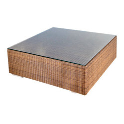 Westminster Teak Furniture - Malaga All Weather Wicker Coffee Table - Malaga Luxury Outdoor Furniture is constructed of high quality, All Weather Wicker.  Deep Seating Cushions included.