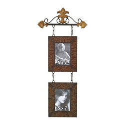BZBZ48103 - Metal Wall Photo Frame for 2 - 5 X 7'S - Photo frame set is 14 inches wide x 32 inch in height. It is an excellent anytime low priced wall decor upgrade option that is high in modern age decor fashion and creates difference in feel of home stay.