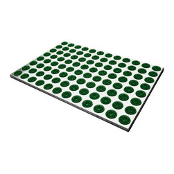 Radius Design - Feet-Back I Door Mat, Green - With 96 cleaning brushes the Feet-Back I Doormat is a truly efficient sole cleaner suitable for indoor and outdoor use. Moreover, the base is made of high-quality stainless steel, which lends the mat an attractive appearance.