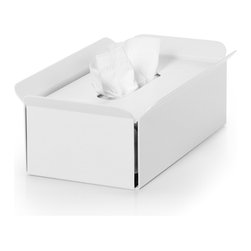 WS Bath Collections - Bandoni White Tissue Holder - Bandoni 53441.09 Tissue Container in White by WS Bath Collections, Tissue Container In Powder Coated Aluminum In White, Made in Italy