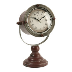 iMax - iMax Spotlight Clock X-43147 - The Spotlight clock has an aged appearance and adds sophistication to any desk or tabletop!