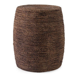 iMax - Camotes Seagrass Ottoman - Woven seagrass creates the natural look of the Camotes ottoman. Great for use as a side table, this ottoman adds a warm honey tone to any room.