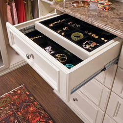 transFORM - Double Jewelry Drawer - Double jewelry drawer with gliding, velvet lined jewelry trays.