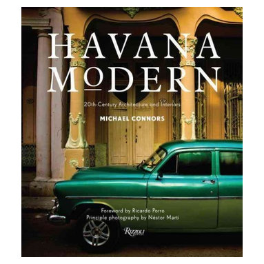 """Rizzoli International Publications - """"Havana Modern: 20th-Century Architecture and Interiors"""" Hardcover - A revealing collection of astonishingly fresh and undiscovered midcentury architecture and interiors in Havana. Caribbean design expert and historian Michael Connors leads the reader on an unprecedented tour in Havana of the stunning and architecturally important private homes and buildings that have been meticulously preserved, previously unphotographed, and mostly inaccessible to visitors. This lavish book represents the modern movement in Cuban architecture, from art nouveau and art deco to the flowering of high modernism just before the Revolution, spanning from the early 1900s to 1965. At a time when travelers are rediscovering Cuba, this volume offers a range of the city's twentieth-century cultural achievements. The photographs, shot exclusively for the book, show examples from the artsy Vedado neighborhood, the seaside streets of Miramar, Central Havana, and Havana's posh Country Club Park area. Included are iconic places such as Cuba's remarkably futuristic National Schools of Art; the art deco landmark Bacardi building; Casa de Alfred von Schulthess by Richard Neutra; the stylish Habana Riviera Hotel, and its original 1957 interiors; the Hotel Nacional de Cuba designed by McKim, Mead & White, on Havana's seaside drive the Malecón; and the world-famous Tropicana cabaret nightclub by architect Max Borges. Havana Modern is a pioneering book of modern design that shows a corner of the world where modern architecture thrived and has been carefully preserved."""