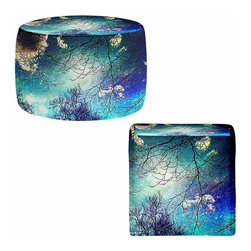 DiaNoche Designs - Ottoman Foot Stool  - Night Sky - Lightweight, artistic, bean bag style Ottomans. You now have a unique place to rest your legs or tush after a long day, on this firm, artistic furtniture!  Artist print on all sides. Dye Sublimation printing adheres the ink to the material for long life and durability.  Machine Washable on cold.  Product may vary slightly from image.
