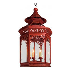 The Chinoiserie Lantern, Red