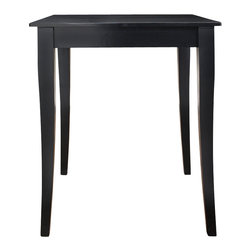 """Crosley - Cabriole Leg Pub Table in Black Finish. - Constructed of solid hardwood and wood veneers, this Pub / High Dining table is designed for longevity. Perfect for the kitchen, basement, or bonus room! The 32"""" top provides plentiful space for dining, a game of cards, or just a place for your favorite beverage while playing a game of pool.*Free Shipping on orders over $100.00 to the 48 contiguous United States. Orders to Alaska, Hawaii, and all other countries, need to have the shipping calculated and the cost added to the order. Contact us at bentleymarketing@cox.net, for the additional fee."""