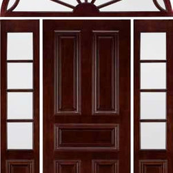 """Jeld-Wen 432 Mahogany Door w TDL Sidelites Transom IG Glass - SKU#432BrandJeld-WenDoor TypeExteriorManufacturer CollectionJeld-Wen Exterior Custom WoodDoor ModelDoor MaterialWoodWoodgrainMahoganyVeneerPrice$Door Size Options  $Core TypeDoor StyleDoor Lite StyleDoor Panel Style5 PanelHome Style MatchingClassic , Colonial , VictorianDoor ConstructionPrehanging OptionsPrehung ConfigurationDoor with Two Sidelites and Elliptical TransomDoor Thickness (Inches)Glass Thickness (Inches)Glass TypeGlass CamingGlass FeaturesGlass StyleClear IGGlass TextureGlass ObscurityDoor FeaturesDoor ApprovalsDoor FinishesMerlotDoor AccessoriesWeight (lbs)340Crating Size25"""" (w)x 108"""" (l)x 52"""" (h)Lead TimeWarranty"""