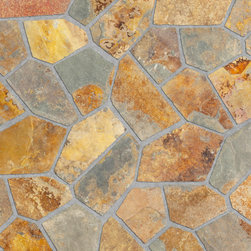 Relastone Systems - Realstone Systems Terracotta Algoma Mat - Algoma Flagstone mats feature an irregular flagstone pattern made from slate or quartz that is adhered to a rubber mesh mat.