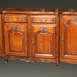 Antique Buffets - French oak sideboard in Louis XV Neo Rustique style.