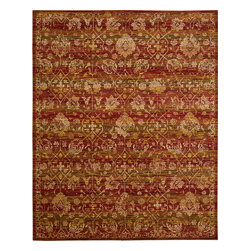 """Nourison - Nourison Rhapsody RH007 (Sienna, Gold) 8'6"""" x 11'6"""" Rug - The Rhapsody collection is a modern mix of European and Persian textile traditions in lively, sophisticated patterns and colors."""