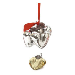 Go Home Ltd - Go Home Ltd Antique Silver Smooth Heart Ornament - Pack of 9 X-SA-46601 - Go Home Ltd Antique Silver Smooth Heart Ornament - Pack of 9 X-SA-46601