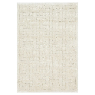 """Loloi Rugs - Loloi Rugs Dream Shag Collection, Ivory, 3'-9""""x5'-6"""" - Quite possibly one of the thickest shags available, Dream Shag is designed to add supreme comfort to the look and feel of any home. The pile consists of thick twisted polypropylene yarns that measure 1.5 inches in length and are densely packed. The result is a shag that's plush, thick, and comfortable. And since it's made in Egypt using power looms, any Dream Shag you order is made with precise design and pile height accuracy."""