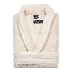 Kassatex - Kassatex KassaSoft Bath Robe, Bisque - After a hard day, wouldn't it be great to come home to a hot bath and this gorgeous bathrobe? It's made of soft, absorbent Supima cotton and comes in your choice of four colors to match your bathroom, your bedroom or your mood.